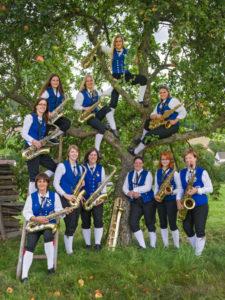 Musiker am Saxophon