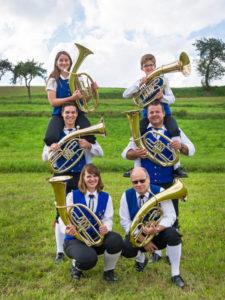 Musiker am Tenorhorn / Bariton